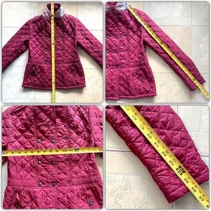 Burberry Children Red Nova Check Jacket Size 12Y